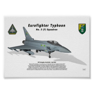 Eurofighter Typhoon No. 3 Sqn with shadow Poster