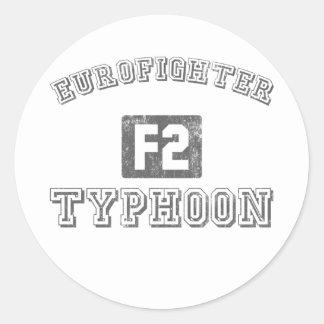 Eurofighter Typhoon Round Sticker