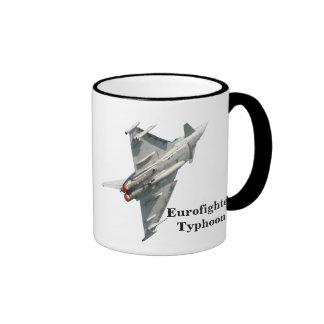 Eurofighter Typhoon with monogram Ringer Coffee Mug