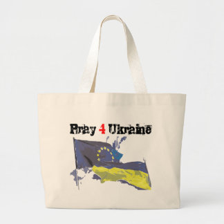 Euromaidan = Pray 4 Ukraine = Freedom Large Tote Bag