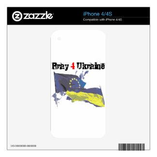 Euromaidan = ruega 4 Ucrania = libertad iPhone 4 Calcomanías