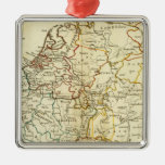 Europa 10 adorno navideño cuadrado de metal
