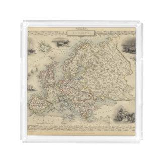 Europa 15 bandeja cuadrada