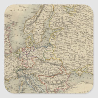 Europa 15 pegatina cuadrada