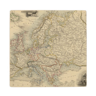 Europa 15 posavasos de madera