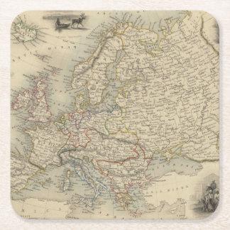 Europa 15 posavasos desechable cuadrado