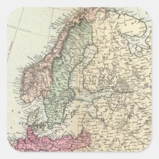 Europa 19 calcomanía cuadrada personalizada