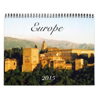 Europa 2015 calendario de pared