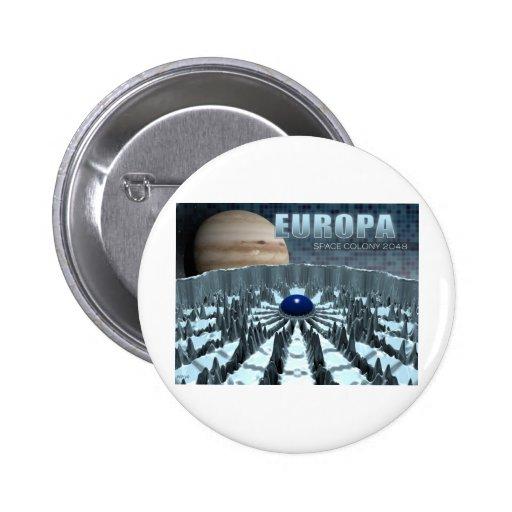 Europa 2048 pinback button