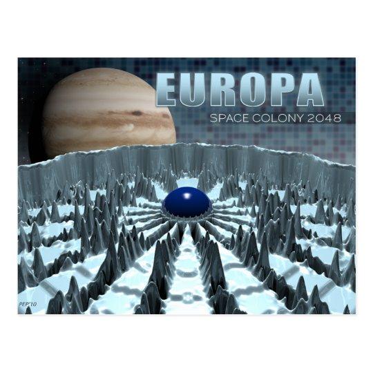 Europa 2048 postcard