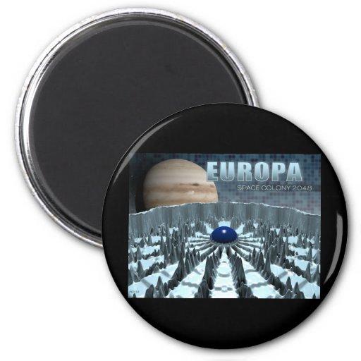 Europa 2048 refrigerator magnet