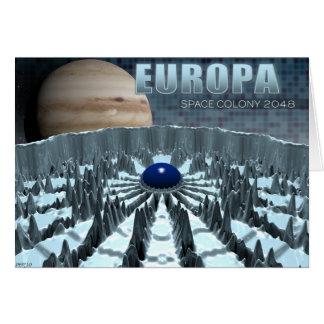 Europa 2048 tarjeta de felicitación