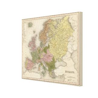 Europa 20 impresión en lienzo