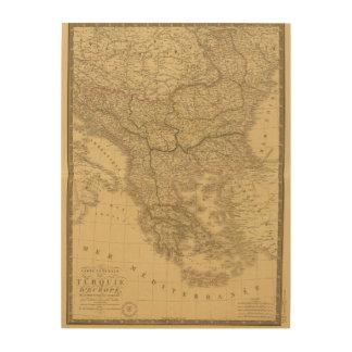 Europa 23 impresiones en madera