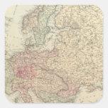 Europa 24 pegatina cuadrada