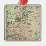 Europa 26 adorno navideño cuadrado de metal