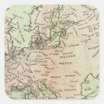 Europa 26 pegatinas cuadradas