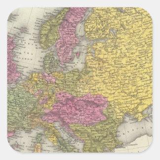 Europa 29 pegatina cuadrada