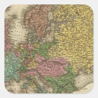 Europa 32 pegatina cuadrada
