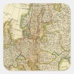 Europa 35 pegatina cuadrada