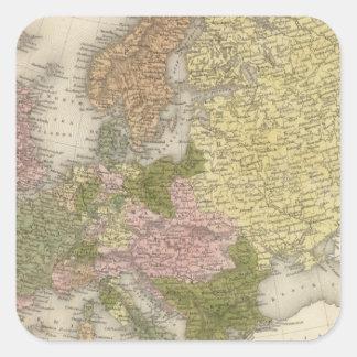 Europa 38 pegatina cuadrada