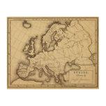 Europa 45 impresiones en madera