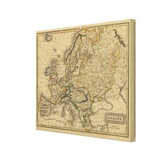 Europa 4 lienzo envuelto para galerías