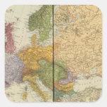 Europa 54 pegatina cuadrada