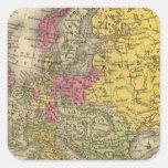 Europa 9 pegatina cuadrada