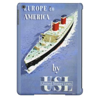 Europa al poster del viaje del vintage de América Funda Para iPad Air