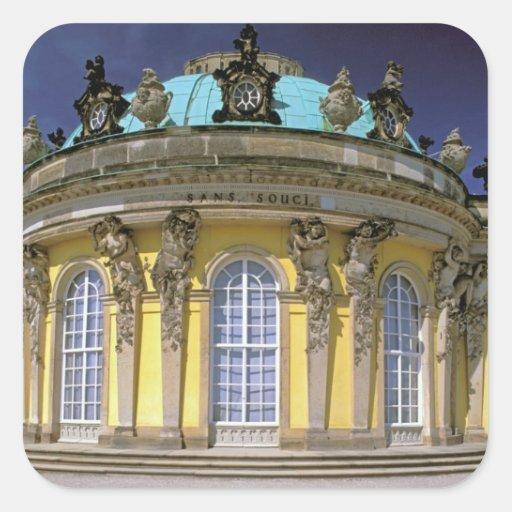 Europa, Alemania, Potsdam. Parque Sanssouci, 2 Calcomania Cuadrada Personalizada
