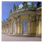 Europa, Alemania, Potsdam. Parque Sanssouci, 3 Azulejo Cuadrado Grande