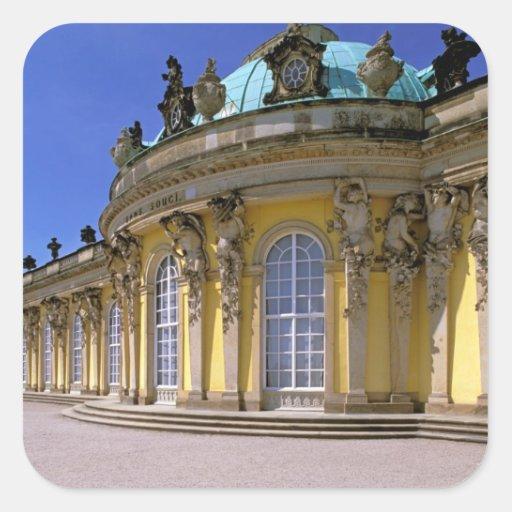 Europa, Alemania, Potsdam. Parque Sanssouci, 3 Calcomanías Cuadradass