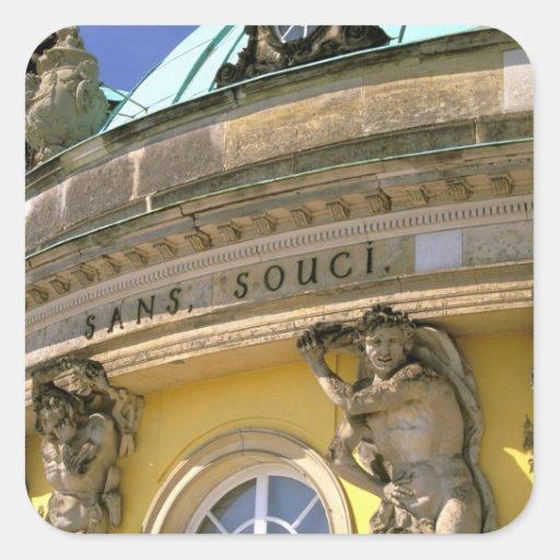Europa, Alemania, Potsdam. Parque Sanssouci, Pegatina Cuadradas