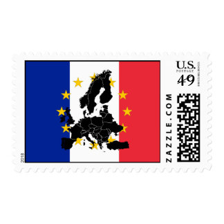 Europa and Stars Flag of France Postage Stamps