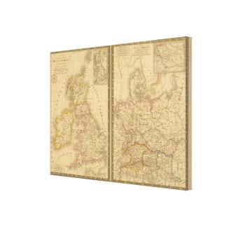 Europa antigua 2 lona envuelta para galerías