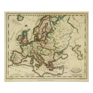 Europa antigua, moderno póster