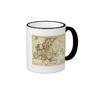 Europa antigua moderno tazas de café
