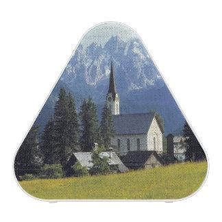 Europa, Austria, Gosau. El chapitel de la iglesia Altavoz Bluetooth