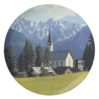 Europa, Austria, Gosau. El chapitel de la iglesia Plato De Comida