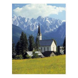 Europa, Austria, Gosau. El chapitel de la iglesia Postales