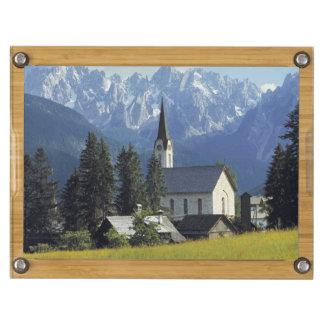 Europa, Austria, Gosau. El chapitel de la iglesia