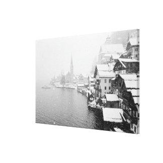 Europa, Austria, Hallstat. Opinión de la ciudad en Impresiones En Lona