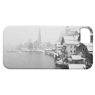 Europa, Austria, Hallstat. Opinión de la ciudad en iPhone 5 Funda