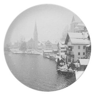 Europa, Austria, Hallstat. Opinión de la ciudad en Platos
