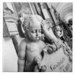 Europa, Austria, Salzburg. Querube y monumento 3 Azulejo Cuadrado Grande