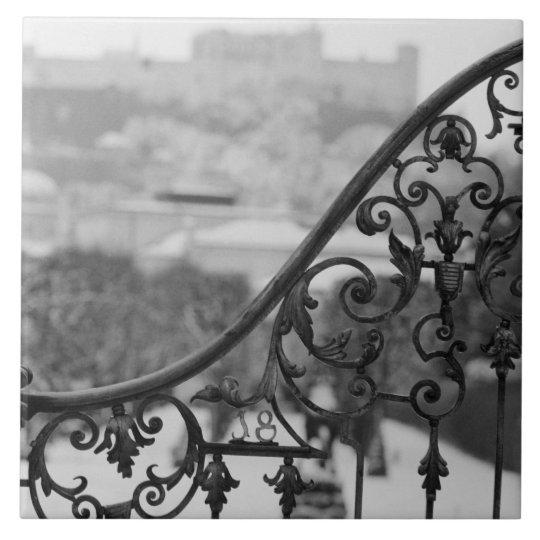 Europa, Austria, Salzburg. Vista de la ciudad viej Azulejo Cuadrado Grande