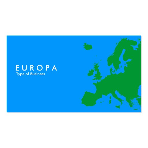 EUROPA azulverde Plantilla De Tarjeta De Negocio