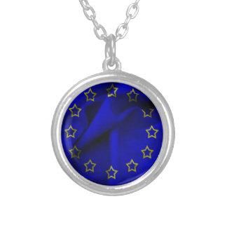 Europa-bandera Collar Plateado