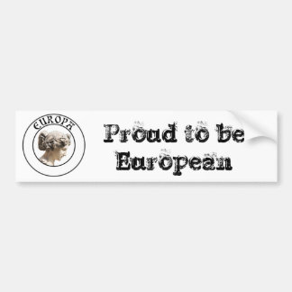 Europa: Be Proud to Show your Euro Roots! Bumper Sticker